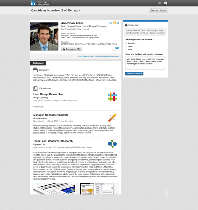 LinkedIn Recruiter Hiring Manager Review
